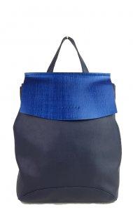 Designový kožený batůžek FACEBAG KENNY 8018 - Tmavá modrá hladká