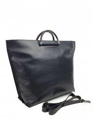 Dámská kožená kabelka FACEBAG TALIA - Černá hladká