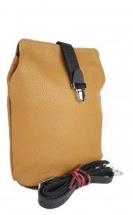 Dámská kožená kabelka FACEBAG ANNA - Světlá cuoio + tmavá hnědá *dolaro*