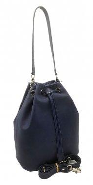 Kožená kabelka Luisa modrá vintage