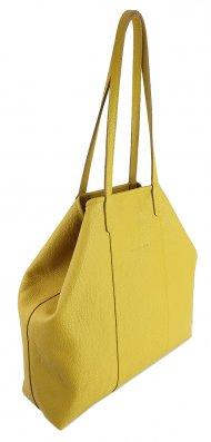 Dámská kožená kabelka FACEBAG MIA - Žlutá *dolaro*