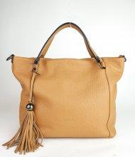 Dámská italská kožená kabelka RIPANI 7715 OO MOSTARDA - Cuoio *dolaro*