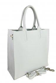 Dámská kožená kabelka FACEBAG CONTES - Bílá *safiano*