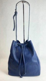 Dámská italská kožená kabelka 2768 - Modrá