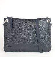 Dámská kožená kabelka FACEBAG CANNET - Černá mačkaný lak