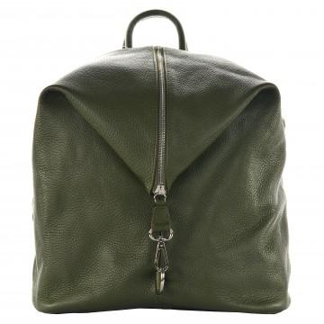 Dámský kožený batoh MASSIMO - Zelená