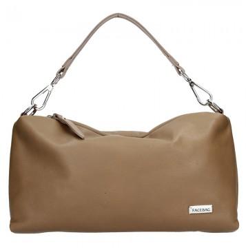 Kožená kabelka FACEBAG - PURA