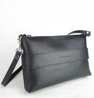 Dámská kožená kabelka FACEBAG MARY - Černá *safiano*