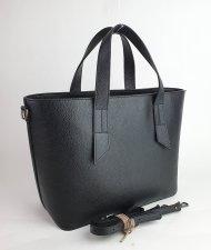 Dámská italská kožená kabelka 3157 - Černá *dolaro*
