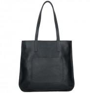 Dámská kožená kabelka FACEBAG - CANNES černá *dolaro*