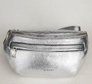 Dámská italská kožená ledvinka RIPANI 7088 OL 030 EASY BAG - Stříbrná *dolaro*