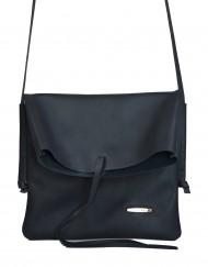 Dámská kožená kabelka FACEBAG NICOLA - Temná modrá