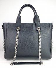 Dámská italská kožená kabelka 3304 - Černá *dolaro*