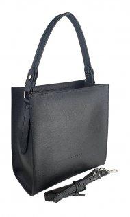 Dámská kožená kabelka FACEBAG ANGE - Černá oboustranná