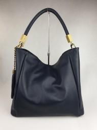 Dámská italská kožená kabelka 6131 - Tmavá modrá