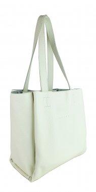 Dámská kožená kabelka FACEBAG BELLA - Bílá *dolaro*