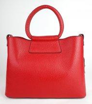 Dámská italská kožená kabelka 3295 - Červená *dolaro*