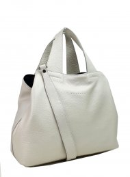 Dámská kožená kabelka FACEBAG SOFI - Bílá perleť