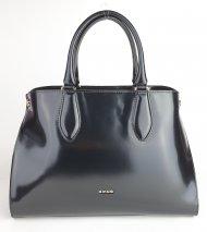 Elegantní dámská kožená kabelka RIPANI 9761 DD 003 EDERA - Černá *ruga*