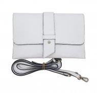 Dámská italská kožená kabelka 6176 HR - Bílá *dolaro*