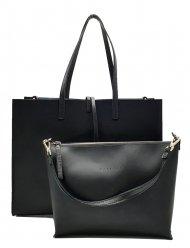 Kožená kabelka Cheri 2v1 černá