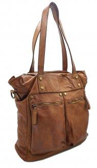 Kožená kabelka 3191 cuoio vintage