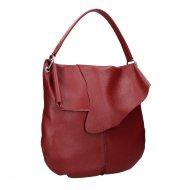 Dámská kožená kabelka FACEBAG POLY - Červená *dolaro*