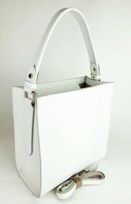 Dámská kožená kabelka FACEBAG ANGE - Bílá oboustranná *dolaro*