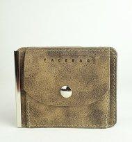 Pánská kožená peněženka FACEBAG DOLARKA - Taupe vintage