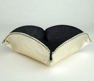 Kožený košíček FACEBAG - Světlá zlatá hladká