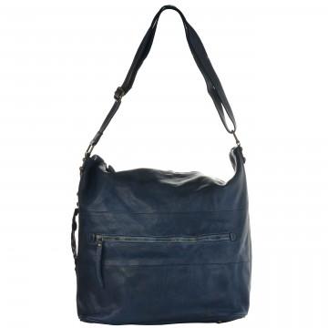 Italská kožená kabelka ROMA - Tmavá modrá