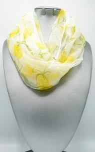 Dámský hedvábný šátek limetkový