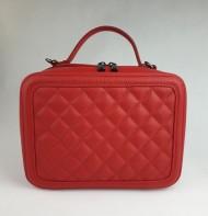 Dámská italská kožená kabelka 8891 - Červená
