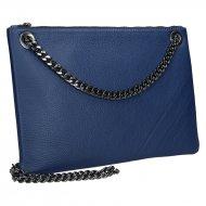 Elegantní dámská kožená kabelka FACEBAG ERIN - Tmavá modrá *dolaro*