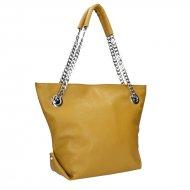 Dámská kožená kabelka FACEBAG DORIS 1 - Tmavá žlutá *dolaro*