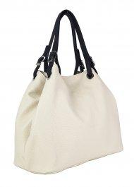 Luxusní dámská kožená kabelka FACEBAG LAURA - Béžová *dolaro*
