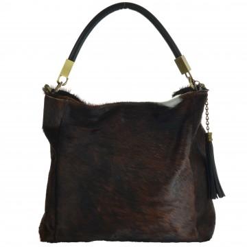 Italská kožešinová kabelka MATTIA