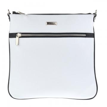 Dámská kožená kabelka FACEBAG VILMA -Bílá + černá