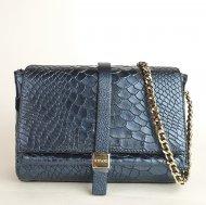 Kožená kabelka Ripani 5771 WL 99002 Linfa modrá had