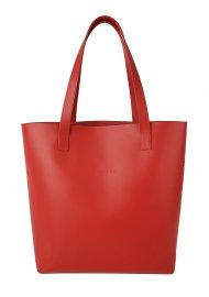 Dámská kožená kabelka FACEBAG ROSINA - Červená *ruga*