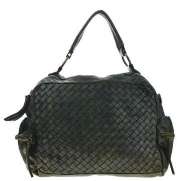 Dámská italská kožená kabelka FLUA - Tmavá zelená
