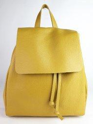 Dámský italský kožený batoh 2717 - Tmavá žlutá *dolaro*