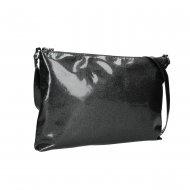 Dámská kožená kabelka FACEBAG SALLY - Černá se třpytkami lak
