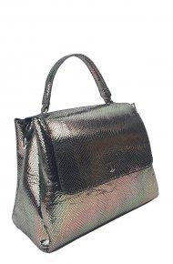 Dámská kožená kabelka FACEBAG GRACE - Zlato-černá had