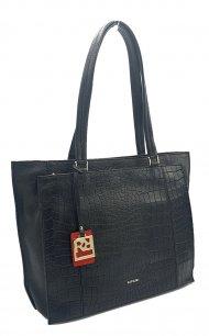 Kožená kabelka Ripani 2851 OA 003 černá kroko