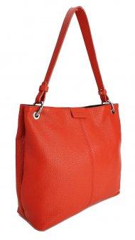 Dámská kožená kabelka FACEBAG LILLE - Červená *dolaro*