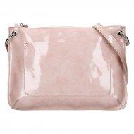 Dámská kožená kabelka FACEBAG - CANNET - Růžová lak