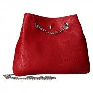 Kožená crossbody kabelka Jadie červená
