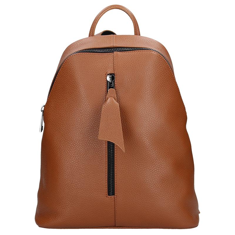 Dámský italský kožený batoh PIETRO - Tmavá cuoio