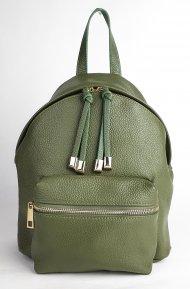 Dámský italský kožený batoh 2138 - Tmavá zelená *dolaro*